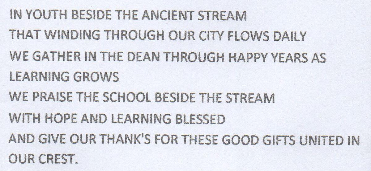Kathleen Glancy - Dean School Song
