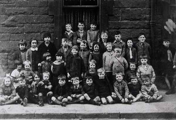 Group Portrait Children In Street 1930s
