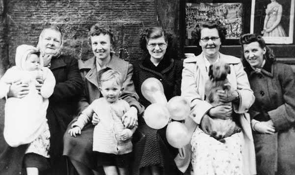 Women And Children At Coronation Day Street Party, Newton Street, Gorgie, 2nd June 1953