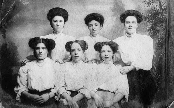 Studio Portrait Employees At Dobson & Molle 1912