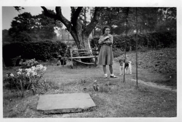 Girl And Dog In The Garden 1949