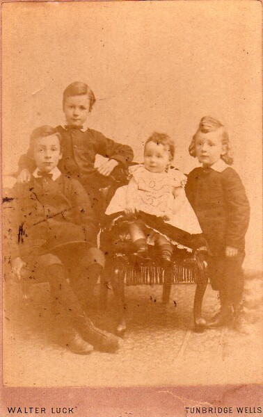 The Luck Family Studio Portrait c.1885