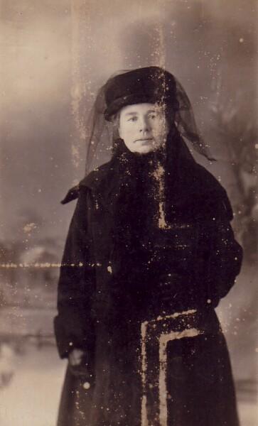 Studio Portrait Policeman's Wife 1890s