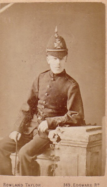 Studio Portrait London Policeman 1890s