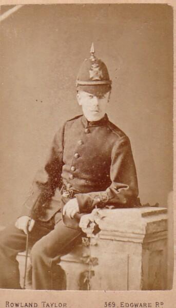 Studio Portrait London Policeman 1890s
