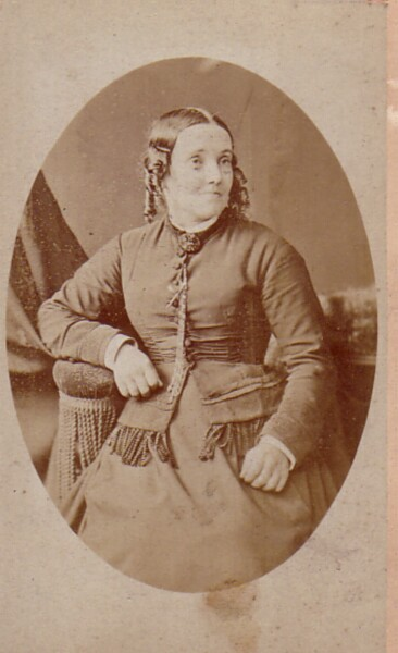 Studio Portrait Victorian Lady 1880s