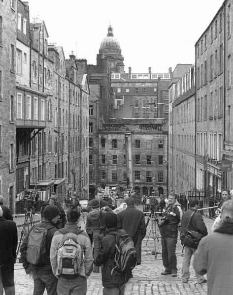 Fire-Damaged Buildings In The Cowgate, 9th Dec 2002