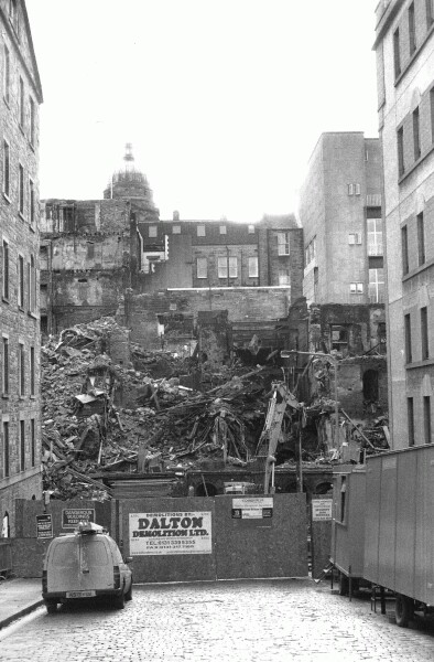 Demolished Buildings In The Cowgate, 4th Jan 2003