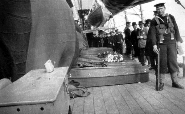 Coffins On Board Ship 1920s