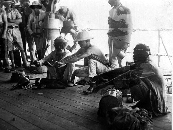 Snake Charmer On Board Ship 1920s