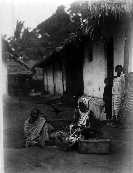 African Village Women Weaving Baskets 1920s