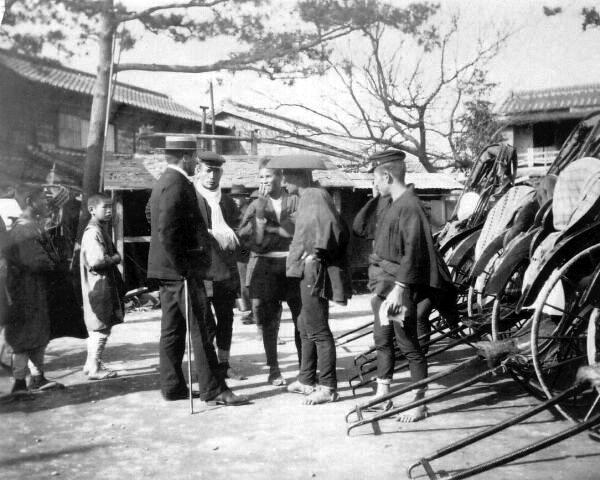 Bargaining For A Rickshaw 1920s