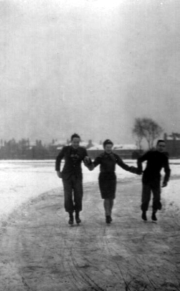 Skating In The Park 1936