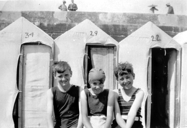 Changed Into Swimming Costumes Ready For A Dip 1929