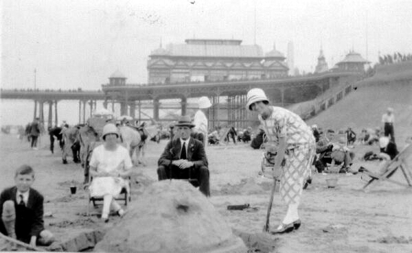 Building Sandcastle At The Seaside 1930s