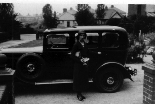 Woman About To Step Into Car 1920s