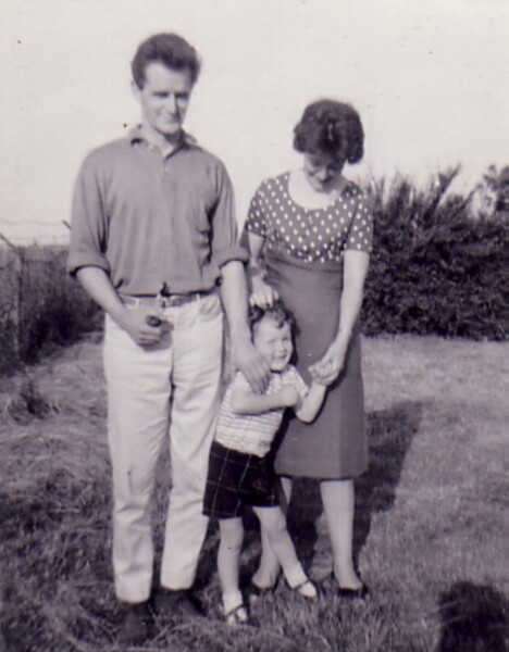 Couple With Young Son On Family Holiday 1965
