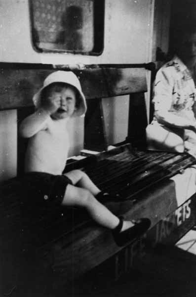 Child On Board Cruise Ship 1954