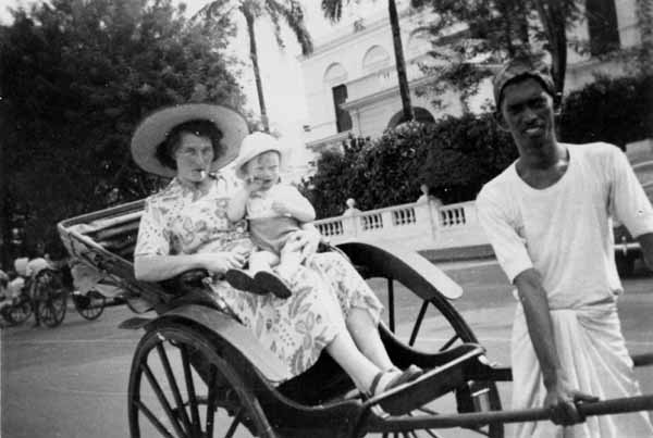 Rickshaw Ride, June 1954