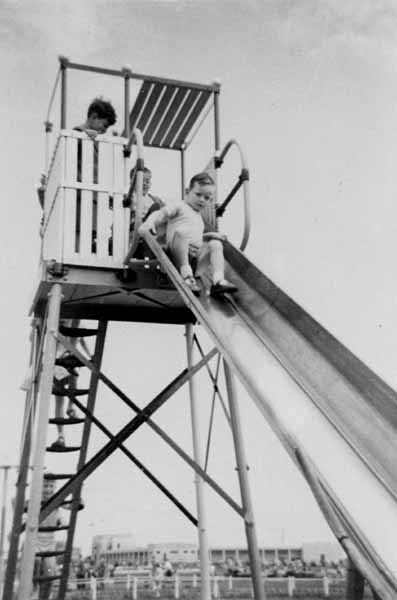 Children Playing On Slide At Pontins c.1960