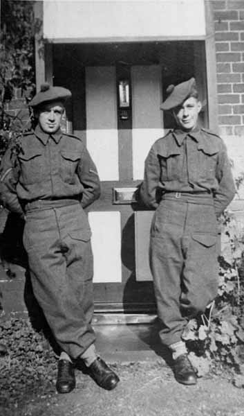Two Soldiers Of The Territorial Army 8th Royal Scots c.1950