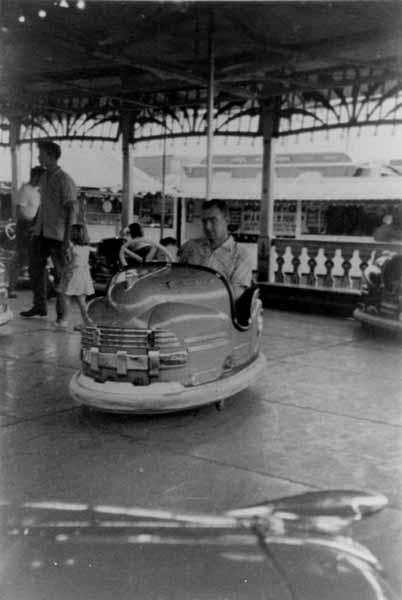 On The Dodgems At Pontins Holiday Camp 1960
