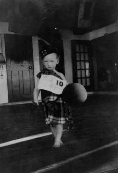 Boy Taking Part In Fancy Dress Contest c.1956