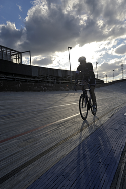 Track cyclist, Meadowbank Velodrome
