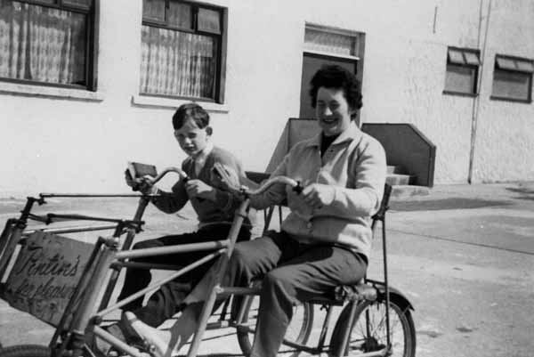 Getting Around Pontin's Holiday Camp In Pedal Car c.1960