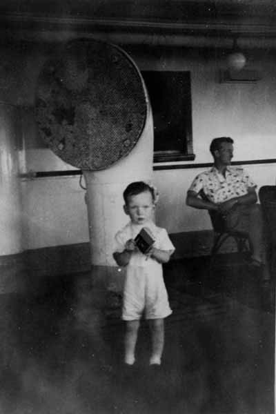 Young Boy On Board Ship 1954