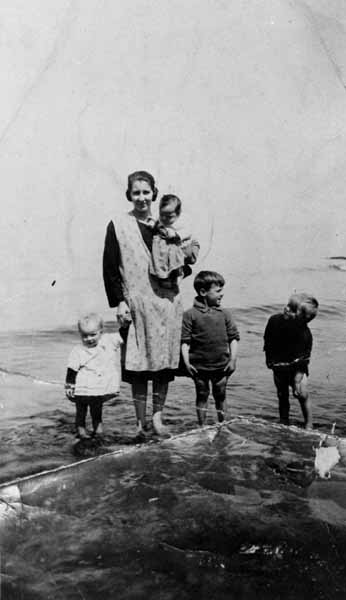 Paddling By The Seahore c.1957