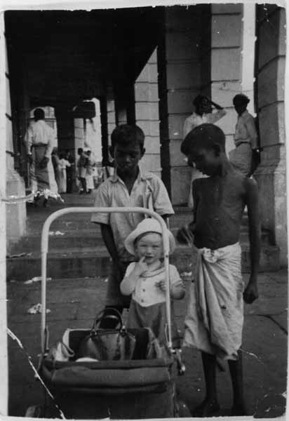 Child On Holiday With Local Children, June 1954