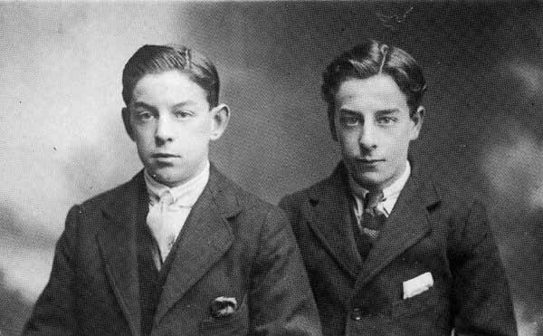 Studio Portrait Two Brothers 1919