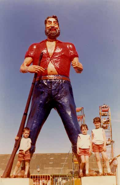 Standing Under Giant At Butlins 1966
