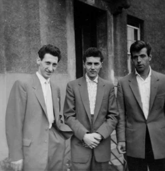 Three Young Men Suited-Up 1958