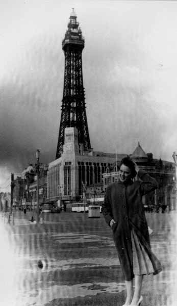 On Honeymoon By Blackpool Tower 1957