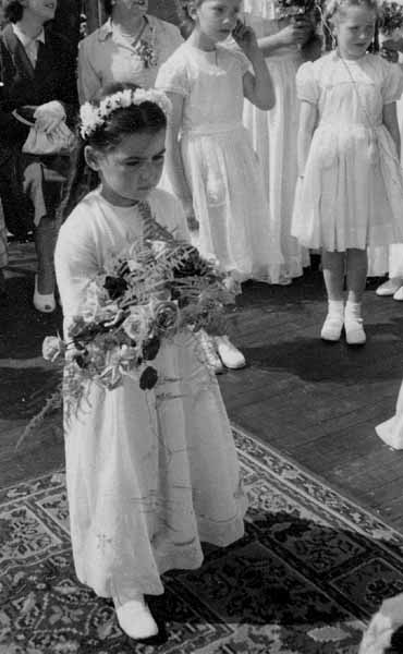 Presenting The Gala Queen With A Garland Of Flowers 1953