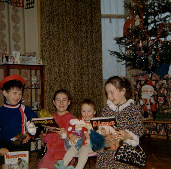 Opening Presents On Christmas Day 1968