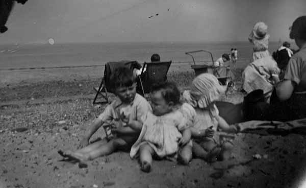 Children Playing In The Sand At Portobello 1938