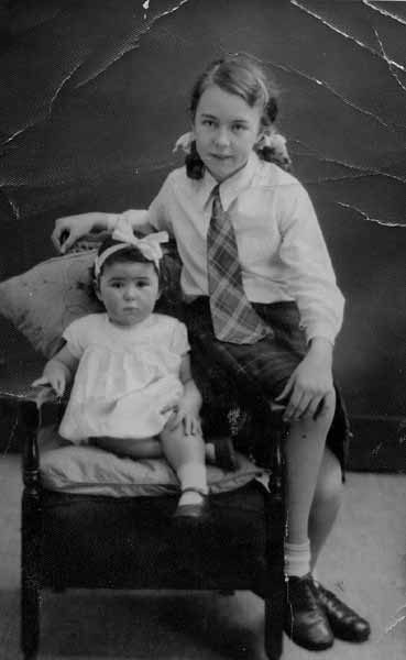Studio Portrait Two Sisters 1949