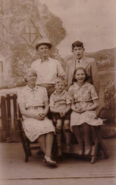 Studio Family Portrait, Summer 1937
