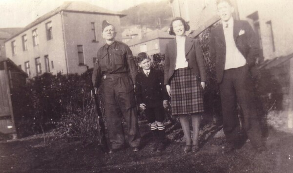 Local Defence Volunteer With Family, October 1939