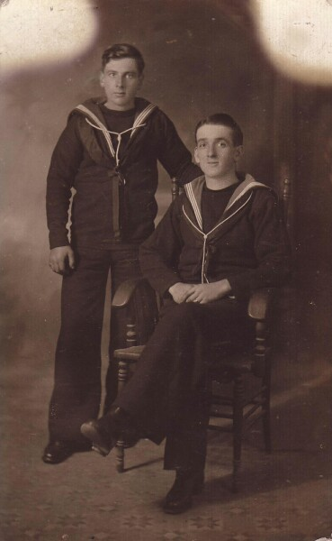 Studio Portrait Two Sailors c.1917