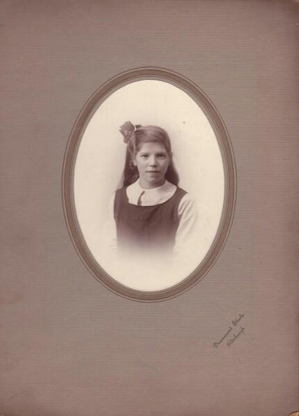 Studio Portrait School Girl c.1918