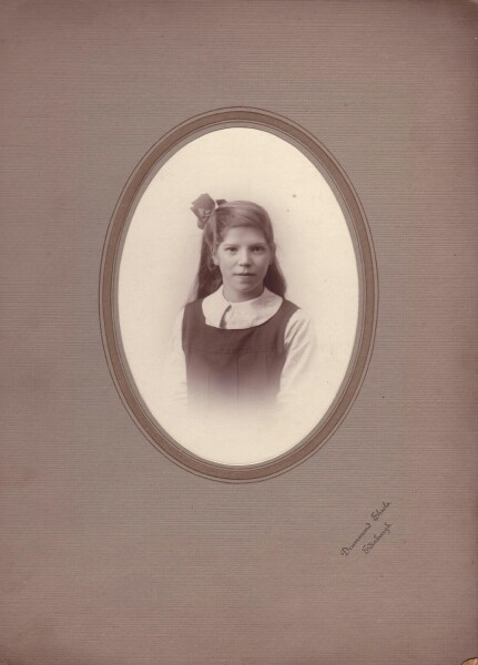 Studio Portrait School Girl c.1918