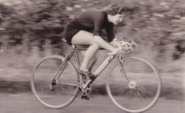 Cyclist Time-Trialling, August 1952