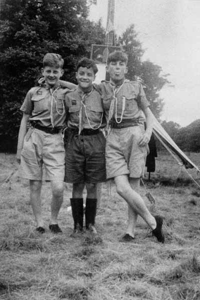 Three Scouts At Annual 14th Portobello Scout Camp 1958