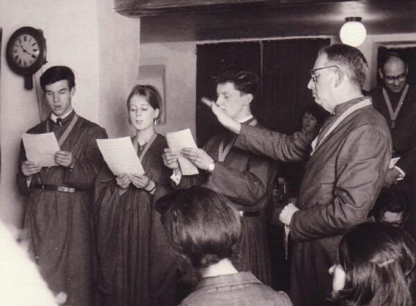 Members Of The 'Sine Nomine Singers' Performing 1965