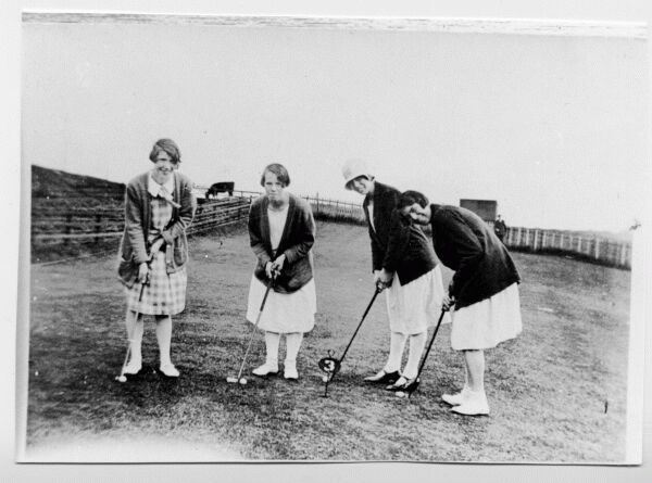 Young Women On The Putting Green 1920s
