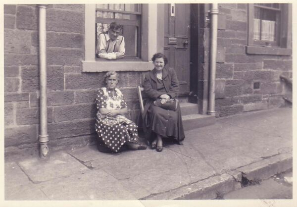 Sitting Outside By The Tenement Window c.1950